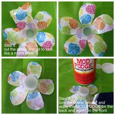 Crissy's Crafts: Recycled Water Bottle Flower - Yep, more flowers for me.