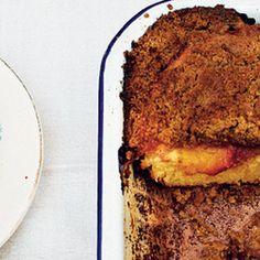 Yellow Peach Crumb Bun - The Happy Foodie
