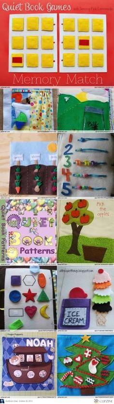 Quiet Book Patterns & Ideas by nancyoliver