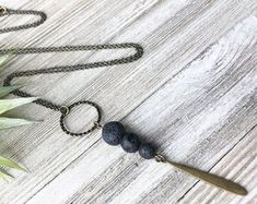 Unique, Handmade Jewelry, Featuring Raw Gemstones by StellaGraph Essential Oil Jewelry, Arrow Necklace, Pendant Necklace, Raw Gemstones, Etsy Seller, Handmade Jewelry, Unique, Handmade Jewellery, Jewellery Making