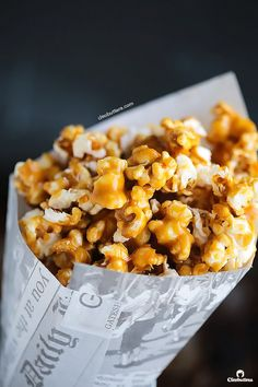 No Bake Salted Caramel Popcorn {Sweet, salty...All of the crunch...non of the long baking and continuous stirring}