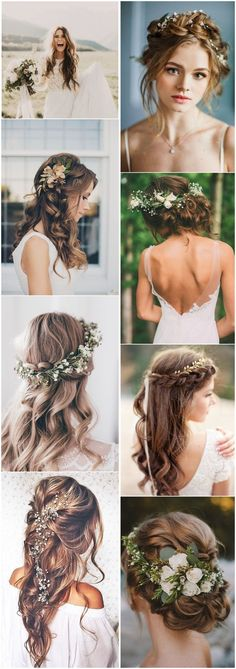 21 Inspirational Boho Bridal Hairstyles Ideas To Steal # Bridal Hairstyles . - 21 inspiring boho bridal hairstyles ideas to steal - Boho Wedding Hair, Wedding Hair And Makeup, Hair Makeup, Boho Makeup, Makeup Hairstyle, Hair Updo, Bridal Makeup, Bride Hairstyles, Trendy Hairstyles