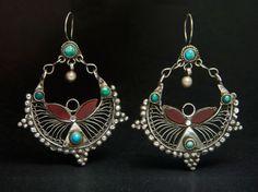 Kutchi earrings, Afghanistan