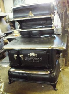 Antique Stove Hospital - Forty years of experience in restoring wood, coal, and gas stoves. Antique Kitchen Stoves, Antique Wood Stove, How To Antique Wood, Coal Gas, Coal Stove, Restore Wood, Selling Antiques, Small Homes, Service