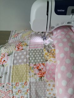 Does it seem like everyone you know is having a baby this year or is it  just my friends? I don't even think it's because we're also having a baby  that it seems like there is a baby boom in 2015.  Lots of babies means lots of handmade gifts. I've been trying to work  ahead on quilts. I fini