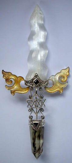 selenite dagger crystal wand