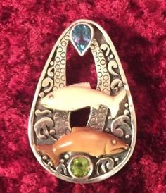 Zealandia-sterling-silver-swimming-fish-pendant-brooch