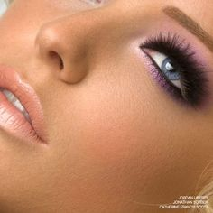 Jordan Liberty. Look features Shu Uemura mink lashes.