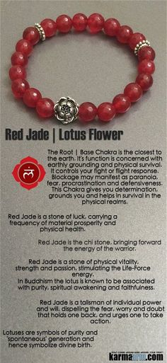 #BEADED #Yoga #BRACELETS #Red #Jade is the #chi stone, bringing forward the energy of the #warrior. A stone of physical vitality, strength and passion, stimulating the Life-Force energy.  Red Jade is a stone of luck for prosperity and physical health. #Tolle #Crystals #Energy #gifts #Handmade #Healing #Kundalini #Law #Attraction #LOA #Love #Mala #Meditation #prayer #Reiki #mindfulness #wisdom #Fashion #birthday #Lucky #lotus ##Chakra #Mens #gifts #him Stretch #Womens #jewelry #gifts