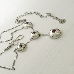 Reserved Sterling Silver Ruby and Garnet by EraArtJewelry on Etsy