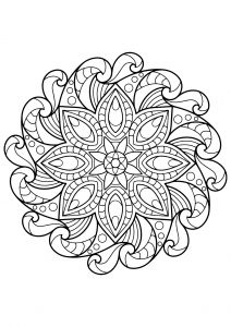 mandala from free coloring book for adults 2