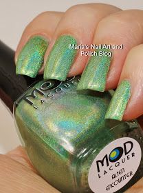 Marias Nail Art and Polish Blog: MOD Lacquer Alien Encounter swatches