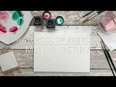 May & Berry Watercolor Wreath Practice - YouTube