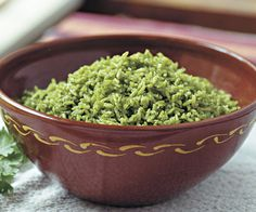 Arroz Verde (Green Rice). Looks delicious! Sounds similar to how my Hispanic friends make it. Can't wait to try it!