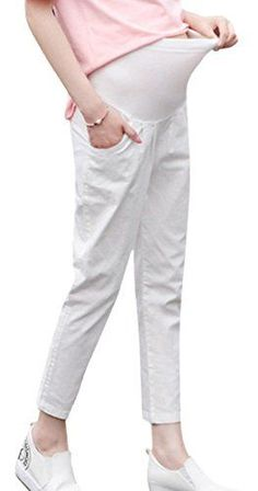 517c4fdd84ada Aivtalk Womens Wonderwork Maternity Pant Pantyhose Cotton Pregnant Women  Care Belly Pants White XL **