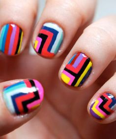 colorful fingernails
