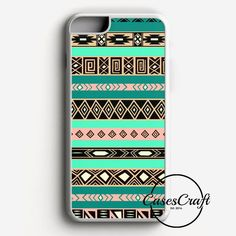 Aztec Tribal Chevron Green Feather Peacock iPhone 7 Case | casescraft