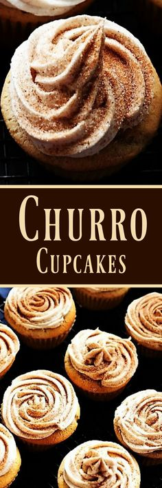 My Recipe Treasures Churro Cupcakes. My Recipe Treasures Cupcake Recipes, My Recipes, Mexican Food Recipes, Sweet Recipes, Cupcake Cakes, Dessert Recipes, Favorite Recipes, Cupcake Emoji, Icing Cupcakes