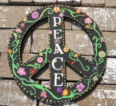 Wooden Peace Sign. $20.00, via Etsy.