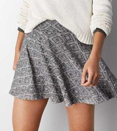 AEO Textured Knit Circle Skirt - Buy One Get One 50% Off