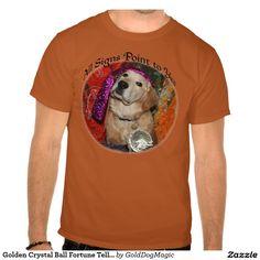 Golden Crystal Ball Fortune Teller Tshirt