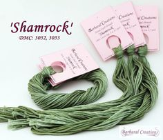 Hand dyed cotton thread  'Shamrock' by BarbaralCreations on Etsy, €2.40