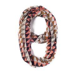 I love the Geranium Triangle Print Infinity Scarf from LittleBlackBag