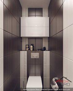 Bathroom Tile Designs, Bathroom Design Small, Kitchen Design, Toilet Room, House, Home Decor, Modern Small Bathrooms, Hall Bathroom, Decoration Home