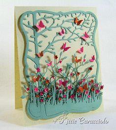 5/16/2012; Kitie Caracciolo at 'Kittie Kraft' blog using Memory Box Orchard Tree Frame; Beautiful!!!