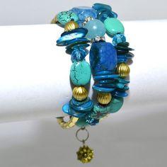 Turquoise bracelet – Jc & Crew Turquoise Bracelet, Mermaid, Metallic, Teal, Amp, Clothes For Women, Bracelets, Accessories, Jewelry