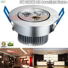 3W (3X1W) Directional LED Downlight Fixture - Aimable and Dimmable