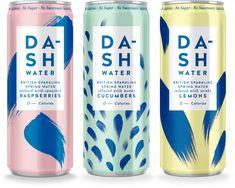 DA-SH Water Is The Perfect Summer Beverage - packaging - Getrank Water Packaging, Beverage Packaging, Bottle Packaging, Product Packaging, Product Label, Dm Poster, Design Poster, Graphic Design, Design Logo