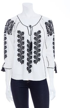 Shop Women's Ulla Johnson Blouses on Lyst. Track over 1389 Ulla Johnson Blouses for stock and sale updates. Eid Outfits, Fashion Outfits, Kaftan, Indian Tops, Nicole Fashion, Pakistani Fashion Casual, Beaded Cross Stitch, Folk Embroidery, Embroidered Clothes