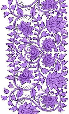 Allover Wool Dress Embroidery Design