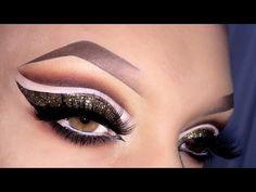 Sexy Arabic Cut Crease with Glitter Makeup Tutorial المكياج العربي - YouTube