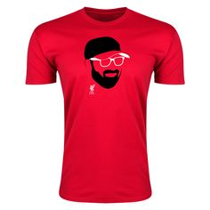 Liverpool Klopp Face Men's Fashion T-Shirt | $17.99 | Holiday Gift & Stocking Stuffer ideas for the Liverpool FC fan at WorldSoccerShop.com