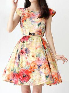 Beautiful Colorful Flower Dress