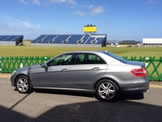 Departed #Edinburgh for chauffeur driven #Tour to #StAndrews the #Open #Golf stands are up ready to greet the world