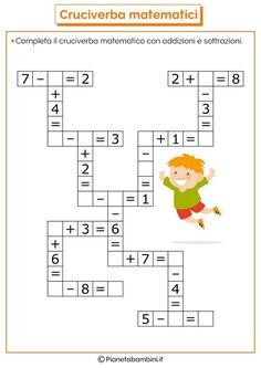 it wp-content uploads 2016 07 Crossword-Mathematical-Addition-Sub Math For Kids, Fun Math, Math Games, Math Activities, Mental Maths Worksheets, Maths Puzzles, Math Resources, Math Classroom, Kindergarten Math