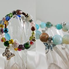 Cute Memory Wire handmade bracelets Affordable Jewelry, Bead Crafts, Handmade Bracelets, Jewelry Making, Wire, Jewellery, Beads, How To Make, Design