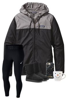 """""""Winter Storm"""" by brookespreppy ❤ liked on Polyvore featuring Patagonia, NIKE, UGG, casual, Boots, polyvorefashion and winter2018"""