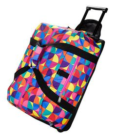 Take a look at this Pinwheel Rolling Duffel Bag on zulily today!
