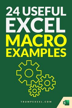 Excel macros can save you a lot of time by automating repetitive work. in many cases, only a few lines of code can save you hours and hours of work every week.    Here is a list of 24 simple Excel VBA macros that you can use in your day-to-day work to save time and be a lot more productive. Microsoft Excel, Microsoft Office, Vba Excel, Excel Macros, Pivot Table, Day Work, Data Science, Personal Finance, Coding