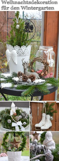 Christmas decoration for the benefit of the winter garden decoration … - Alles über Dekoration White Christmas, Christmas Crafts, Christmas Decorations, Xmas, Decoration Vitrine, Decoration Table, Yellow Roses, Presents, The Incredibles