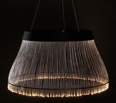 Large Black Fiber Chandelier glorified with optical fibers | Luxurylaunches