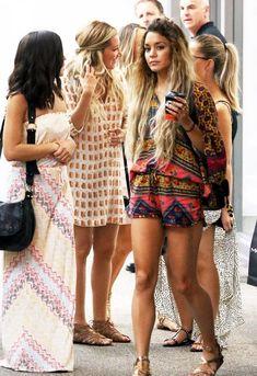 5/16/14 - Vanessa Hudgens + Ashley Tisdale shopping in Miami.