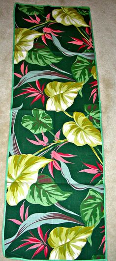 SALE Vintage 1940's 50's BEAUTIFUL Floral BARKCLOTH by anne8865