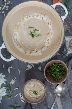 Receta de coliflor y setas