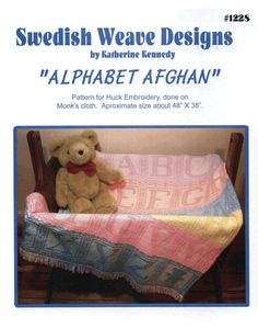 Alphabet Afghan - $9.00 : MonksClothLady.com, your one-stop source for Top Quality Monks Cloth!