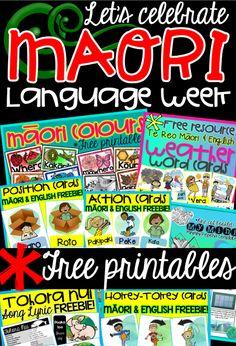 Let's celebrate Māori language week! ~FREE Printables~ {Green Grubs Garden Club Blog}